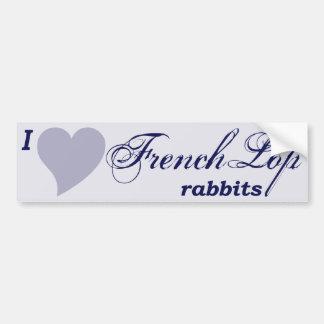Conejos franceses del Lop Pegatina Para Auto