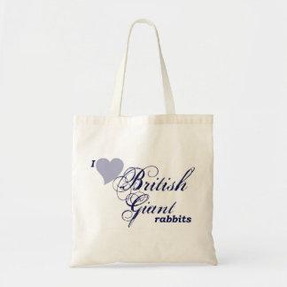 Conejos gigantes británicos bolsas de mano