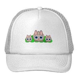 conejos lindos gorros bordados