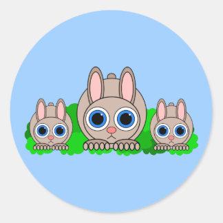 conejos lindos etiquetas redondas