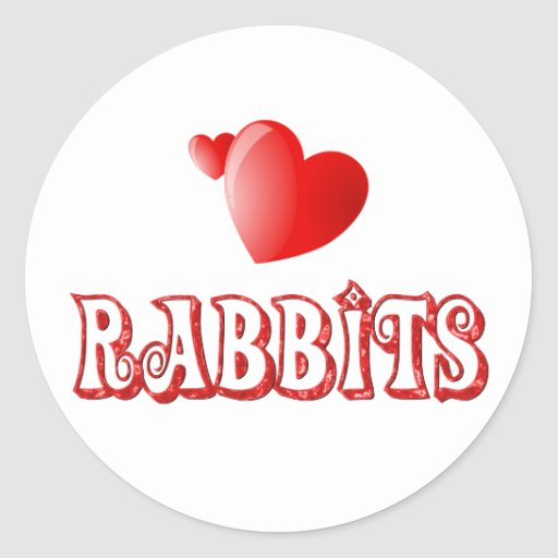 Conejos Pegatina Redonda