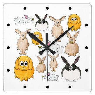 Conejos Relojes De Pared