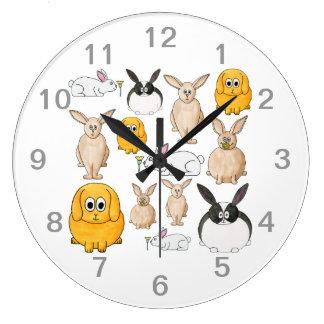 Conejos Reloj De Pared