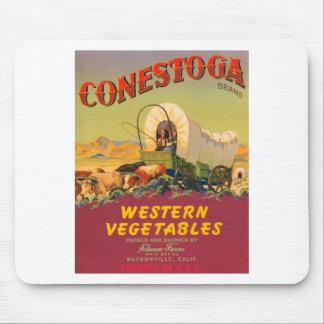 Conestoga Brand Western Vegetables Vintage Label Mouse Pad