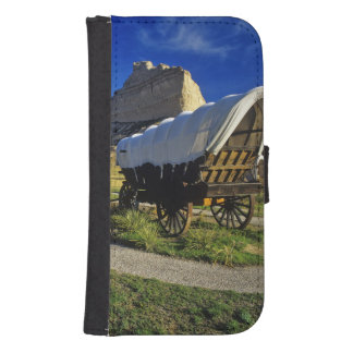 Conestoga wagon at Scottsbluff National Galaxy S4 Wallet Case