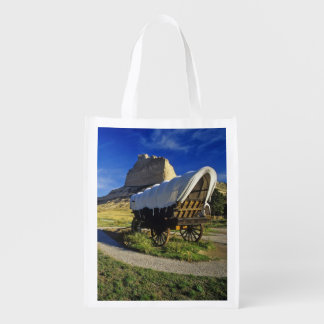Conestoga wagon at Scottsbluff National Grocery Bag