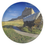 Conestoga wagon at Scottsbluff National Dinner Plate