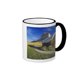 Conestoga wagon at Scottsbluff National Ringer Coffee Mug