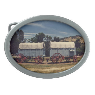 Conestoga Wagons belt buckle oval