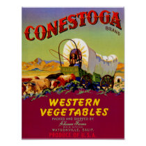 Conestoga Western Vegetables Poster