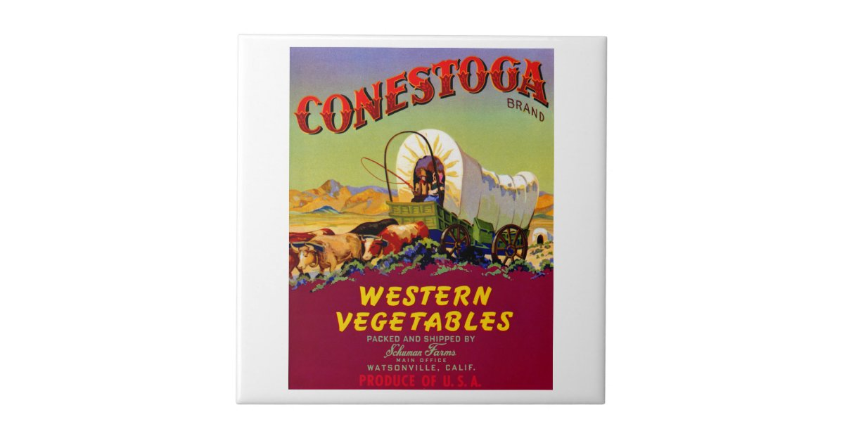 Conestoga Western Vegetables Tile Zazzle