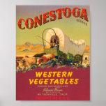 Conestoga Western Vegetables VIntage Crate Label Poster
