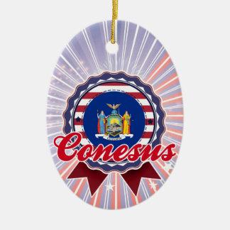 Conesus, NY Adorno Ovalado De Cerámica
