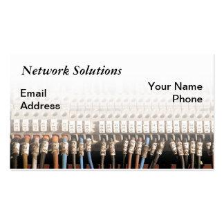 Conexión compleja del alambre de la red de ordenad tarjeta de visita