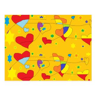 conexión de los corazones tarjetas postales