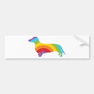 Conexión del arco iris de Doxie Pegatina De Parachoque