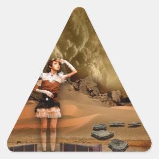 CONEXIÓN FALTADA a FUTURE.jpg Pegatina Triangular