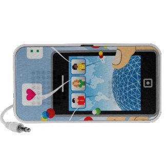 Conexión social iPod altavoces