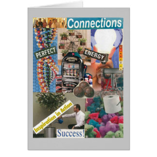 Conexiones curiosas tarjeta de felicitación