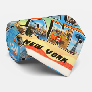 Coney Island #2 New York NY Old Travel Souvenir Tie