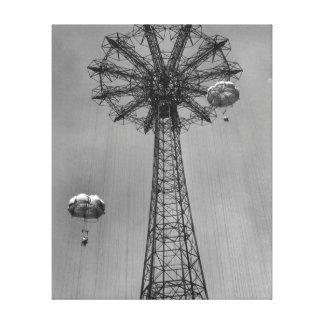 Coney Island Amusement Park Ride Stretched Canvas Print