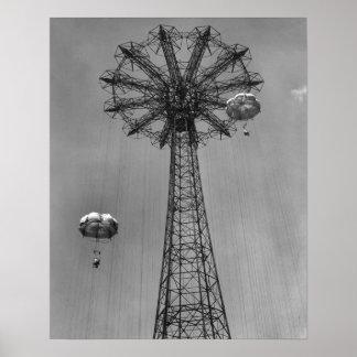 Coney Island Amusement Park Ride Posters