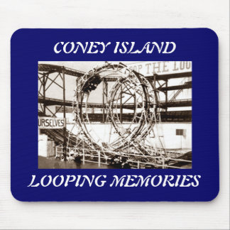 Coney Island Antique View Looping Roller Coaster Mousepad