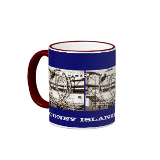 Coney Island Antique View Looping Roller Coaster Mug