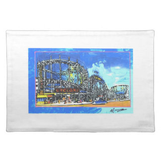 Coney Island artwork placemat