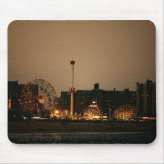 Coney Island at Night Mousepad