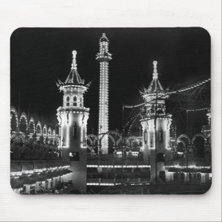 Coney Island at Night Mousepads