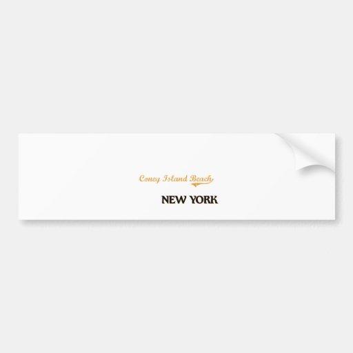 Coney Island Beach New York Classic Bumper Stickers