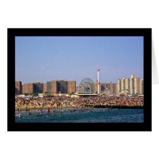 Coney Island beach - NYC greeting card