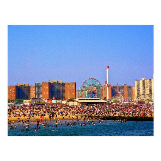 Coney Island Beach: Coney Island Beach - NYC Postcard