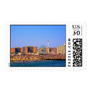 Coney Island Beach Postage