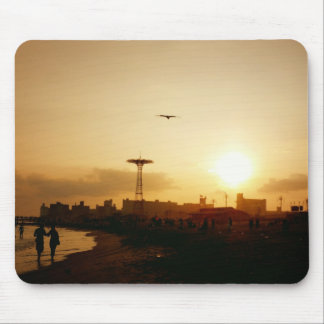 Coney Island Beach Sunset Mouse Pad