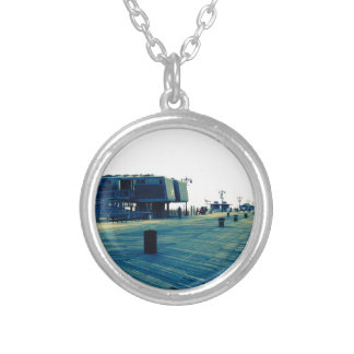 Coney Island Boardwalk Silver Plated Necklace