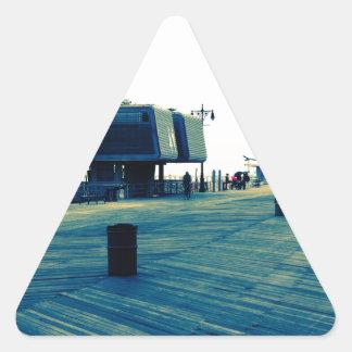 Coney Island Boardwalk Triangle Sticker