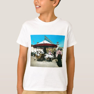 Coney Island Carousel 1890s Magic Lantern Slide T-Shirt