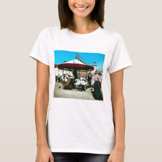 Coney Island Carousel 1890s Magic Lantern Slide T-Shirt