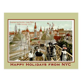 Coney Island Christmas Postcard