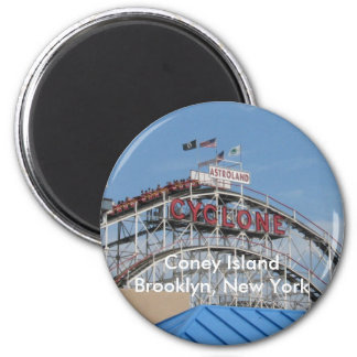 Coney Island Cyclone 2 Inch Round Magnet