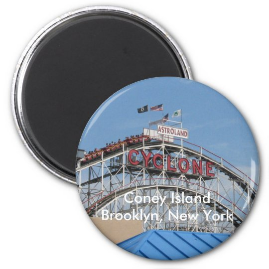 Coney Island Cyclone 2 Inch Round Magnet