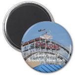 Coney Island Cyclone Fridge Magnets