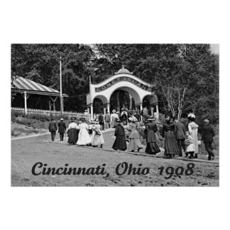 Coney Island en Cincinnati 1908 Póster