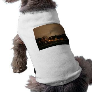 Coney Island en la noche Camisas De Mascota