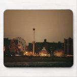 Coney Island en la noche Tapete De Ratón