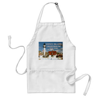 Coney Island Lighthouse, New York Adult Apron