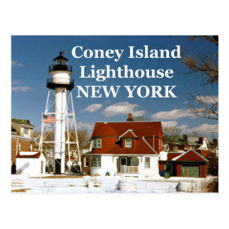 Coney Island Lighthouse New York Postcard