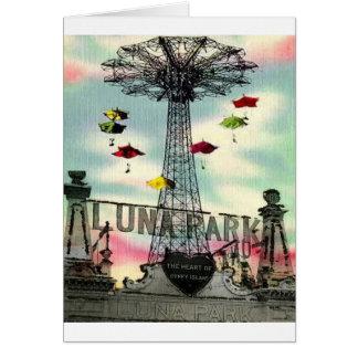 Coney Island Luna Park Amusement park Brooklyn ny Greeting Cards